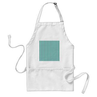 Thin Stripes - White and Pine Green Standard Apron