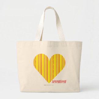 Thin Stripes Yellow 3 Large Tote Bag