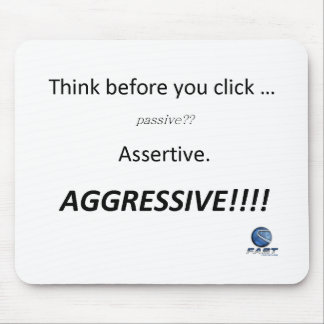 """Think before you click"" mousepad"