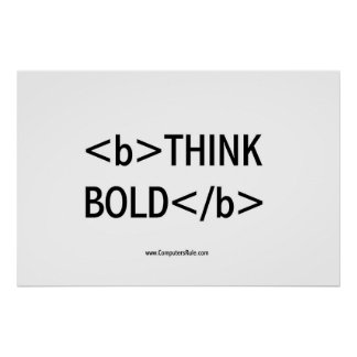 THINK BOLD POSTER
