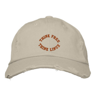Think Free, Think Linux Embroidered Hat