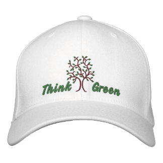 Think Green ~ Ballcap Embroidered Cap