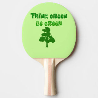 Think Green Be Green Ping Pong Paddle