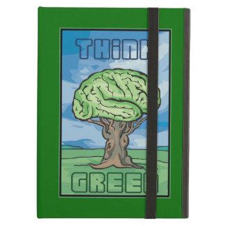 Think Green, Brain Cover For iPad Air