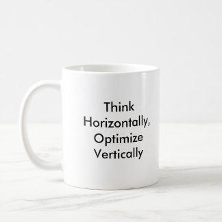 Think Horizontally, Optimize Vertically Coffee Mug