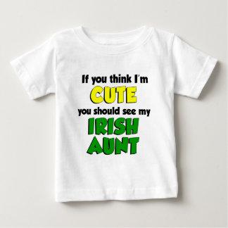 Think I'm Cute Irish Aunt Baby T-Shirt