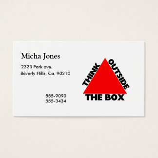 Think Outside The Box With Triangle Business Card