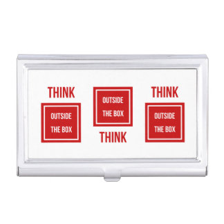 Think outside the red box business card holder