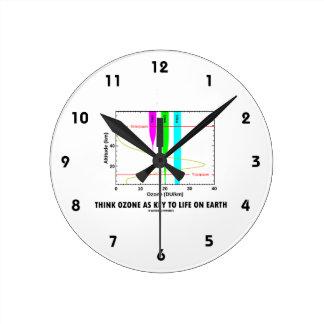 Think Ozone As Key To Life On Earth (Graph) Wall Clocks