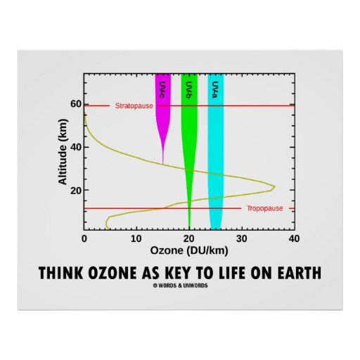 Think Ozone As Key To Life On Earth (Graph) Print