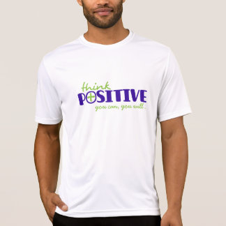 Think positive you can typographic slogan t-shirt