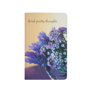 Think Pretty notebook, lavender posey still life Journals