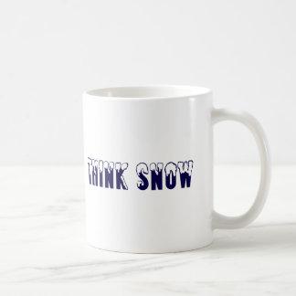 Think Snow Coffee Mug