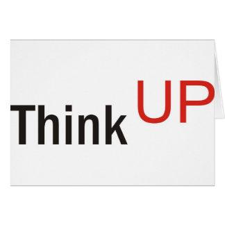 think up alexander technique slogan greeting card
