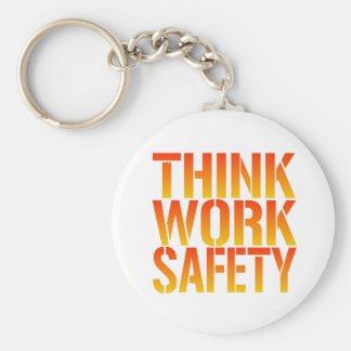 Think Work Safety Key Ring