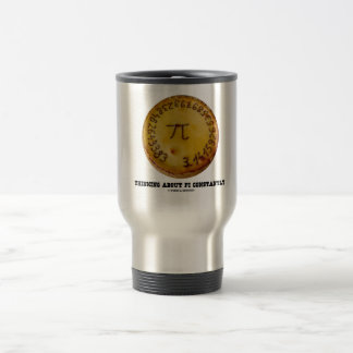 Thinking About Pi Constantly (Pi Pie Math Humor) Coffee Mug
