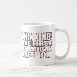 Thinking Freedom Basic White Mug