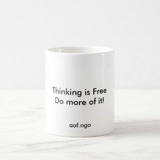 Thinking is Free Basic White Mug