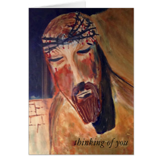 Thinking of you Card, white envelope Greeting Card