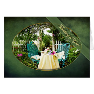 THINKING OF YOU - COTTAGE GARDEN - TEA FOR TWO CARD