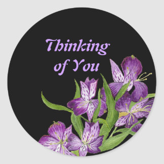 Thinking of you Orchid sticker