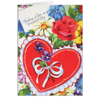 Thinking of You Vintage Valentine Card