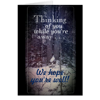 Thinking of You Winter Scene, white envelopes incl Card