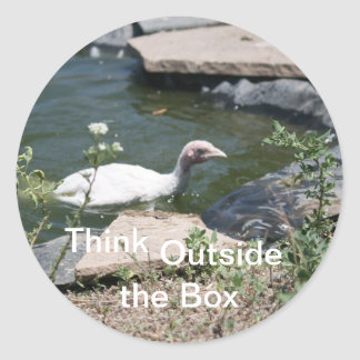 Thinking Outside the Box Classic Round Sticker