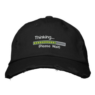 Thinking.... Please Wait Embroidered Hats