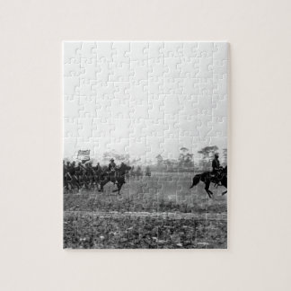 Third Cavalry colors, Cuba, ca.  1898_War Image Jigsaw Puzzle