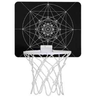 Third Dimensional Sacred Geometry Mini Basketball Hoop
