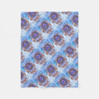 Third Eye Chakra Inspirational Design Fleece Blanket