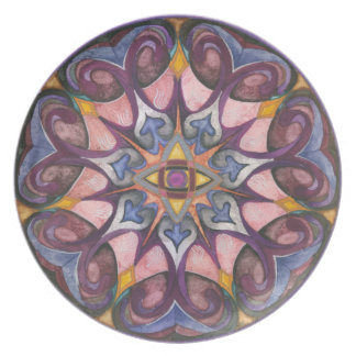 Third Eye Mandala Art Plate