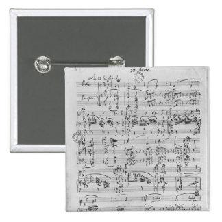 Third Sonata for piano and violin 15 Cm Square Badge