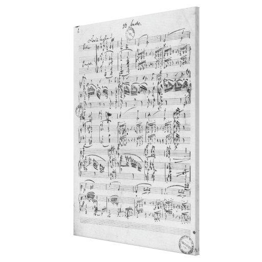 Third Sonata for piano and violin Canvas Print