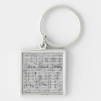 Third Sonata for piano and violin Key Ring