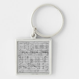Third Sonata for piano and violin Silver-Colored Square Key Ring