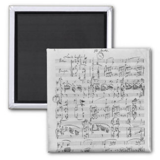 Third Sonata for piano and violin Square Magnet