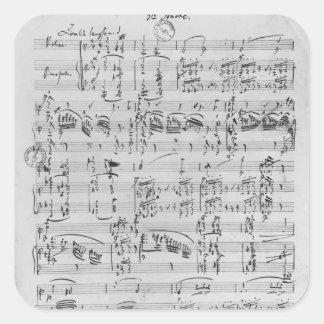 Third Sonata for piano and violin Square Sticker