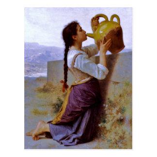 Thirst (la soif) - Bouguereau ~ Postcard