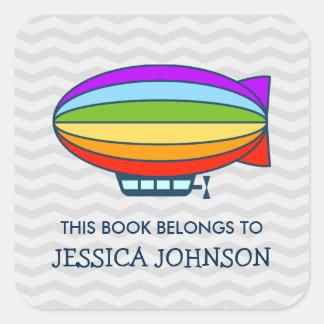 This book belongs to zeppelin bookplate stickers