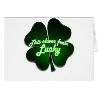 This clover feels lucky too card