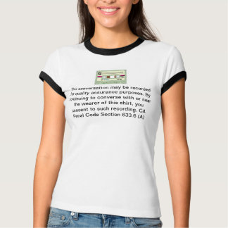 This conversation may be recorded privacy T-Shirt
