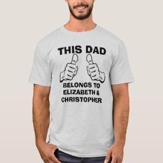 This Dad Belongs To Enter Custom Kids Names T-Shirt