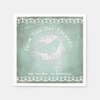 This Day Forward Wedding Disposable Paper  Napkins Disposable Napkins