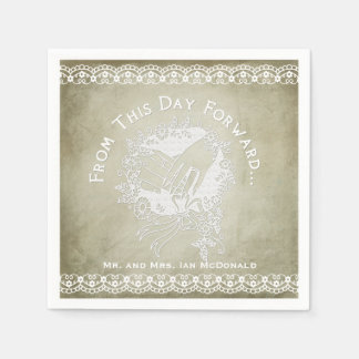 This Day Forward Wedding Disposable Paper  Napkins Paper Napkins