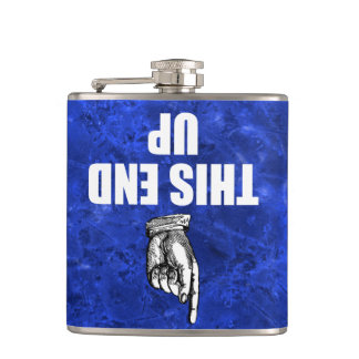 THIS END UP HIP FLASK