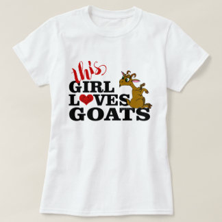 This Girl Loves Goats Sitting Cartoon Goat T-Shirt