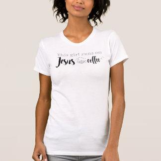 This girl runs on Jesus and coffee Women's T-Shirt
