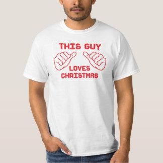 This guy loves Christmas T-Shirt